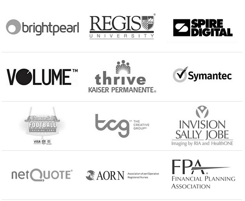 Buzz Boulevard Clients - Brightpear, Regis University, Spire Digital, VOLUME, Kaiser, Symantec, VISA, The Creative Group, Invision Sally Jobe, NetQuote, AORN, Financial Planning Association