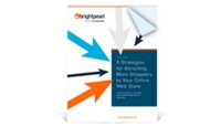 """White Paper, """"5 Strategies for Attracting More Shoppers to Your Online Web Store"""""""