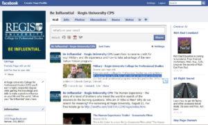 Regis University CPS Facebook
