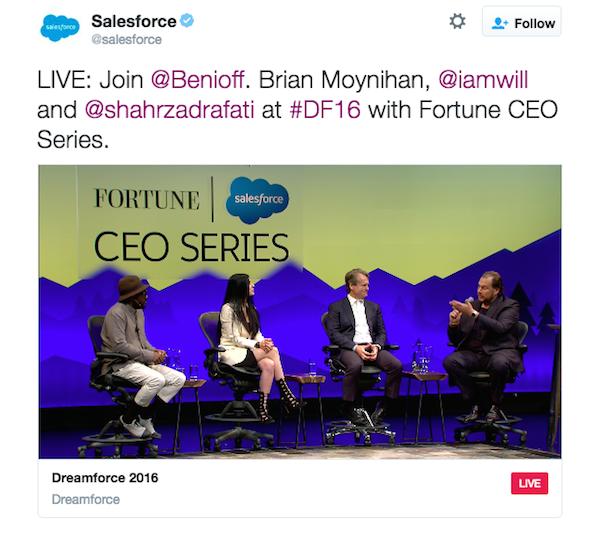 Salesforce's Dreamforce Twitter Live Stream